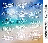 summer labels   Shutterstock .eps vector #189873488