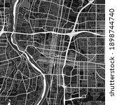 Dark Vector Art Map Of...