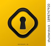 key hole line icon vector.... | Shutterstock .eps vector #1898747920