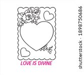 valentines love card vector... | Shutterstock .eps vector #1898750686