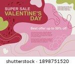 vector illustration. pink  red  ... | Shutterstock .eps vector #1898751520