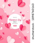 happy st. valentines day card... | Shutterstock .eps vector #1898760163
