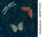 seamless botanical pattern... | Shutterstock . vector #1898779270