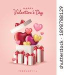 happy valentines day vector...   Shutterstock .eps vector #1898788129