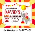 birthday invitation | Shutterstock .eps vector #189879860