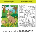 Vector Coloring Page With Cute...