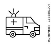 ambulance cute car outline icon ... | Shutterstock .eps vector #1898851009
