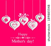 happy mother's day   greeting... | Shutterstock .eps vector #189885548