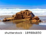 scenic rock on the beach of la... | Shutterstock . vector #189886850