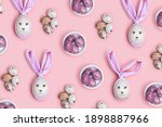 Easter Bunny Rabbit And Cute...