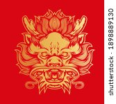 graphic vector head of chinese... | Shutterstock .eps vector #1898889130