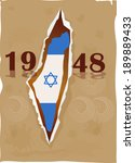 independence day israel flag... | Shutterstock .eps vector #189889433