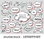 set of cute hand drawn speech... | Shutterstock .eps vector #1898899489