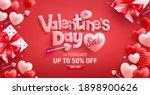 valentine's day sale 50  off... | Shutterstock .eps vector #1898900626