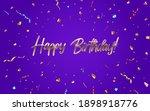 happy birthday congratulations... | Shutterstock .eps vector #1898918776