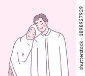 young muslims love each other...   Shutterstock .eps vector #1898927929