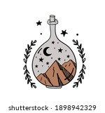 hand drawn magic bottle for... | Shutterstock .eps vector #1898942329