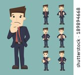 set of businessman characters... | Shutterstock .eps vector #189894668