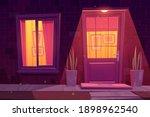 house facade with brick wall ... | Shutterstock .eps vector #1898962540