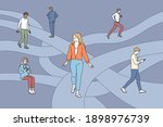searching for life path concept.... | Shutterstock .eps vector #1898976739