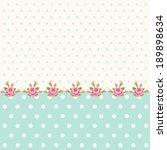 vintage polka dots background... | Shutterstock . vector #189898634