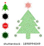 vector coronavirus fir tree... | Shutterstock .eps vector #1898994049
