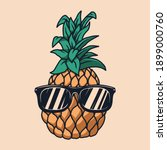 illustration of pineapple with...   Shutterstock .eps vector #1899000760