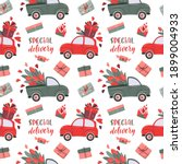 romantic seamless pattern with... | Shutterstock .eps vector #1899004933