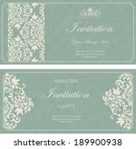 set of antique greeting cards ... | Shutterstock .eps vector #189900938