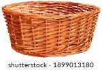 empty wicker straw basket for...   Shutterstock .eps vector #1899013180