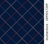tattersall pattern in navy blue ... | Shutterstock .eps vector #1899017209