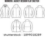 womens jacket windbreaker... | Shutterstock .eps vector #1899018289