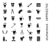 set of simple dentistry icons.... | Shutterstock .eps vector #1899032743