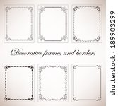 set vintage decorative frames... | Shutterstock .eps vector #189903299