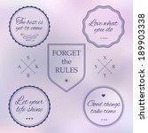 set of vintage styled design... | Shutterstock .eps vector #189903338