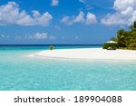beautiful sea and white sand... | Shutterstock . vector #189904088