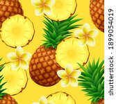tropical seamless pattern with... | Shutterstock .eps vector #1899054019