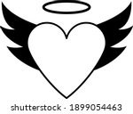 valentine heart with wings and...   Shutterstock .eps vector #1899054463