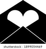 valentine envelop with heart...   Shutterstock .eps vector #1899054469