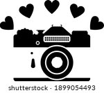 camera with hearts icon. black...   Shutterstock .eps vector #1899054493