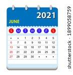 2021 calendar. wall calendar... | Shutterstock .eps vector #1899058759
