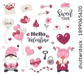 valentine's day items and... | Shutterstock .eps vector #1899065620