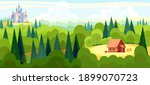 medieval fairy tale magical... | Shutterstock .eps vector #1899070723