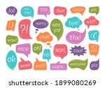 chat speech bubble with talk...   Shutterstock .eps vector #1899080269
