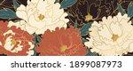 luxury gold floral oriental...   Shutterstock .eps vector #1899087973