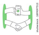 dealing online  remote... | Shutterstock .eps vector #1899097513