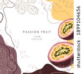 stylized passion fruit on an... | Shutterstock .eps vector #1899104656