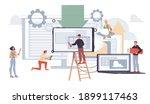 cartoon flat characters office... | Shutterstock .eps vector #1899117463