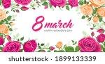 happy women's day banner.... | Shutterstock .eps vector #1899133339
