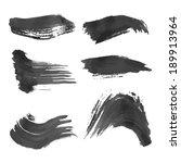 set of black ink smears | Shutterstock .eps vector #189913964
